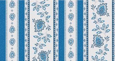 Garlaban bleu rayureNappes Linéaires Découvrez la collection 100% coton GARLABAN nappes linéaires. Il s'agit de motif répétitif, all over ou rayure. C'est-à-dire que le dessin n'est pas placé sur la nappe. Retrouvez le reste de notre collection GARLABAN sur notre site.