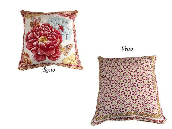 Housse de coussin jacquard Flowers Découvrez notre collection de Housses de coussin jacquard. Plaids, sets de table, et chemins de table sont aussi disponibles sur la boutique l'Ensoleillade.