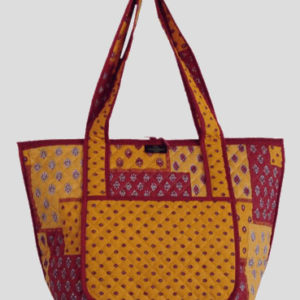 sac cabas jaune rouge bagagerie