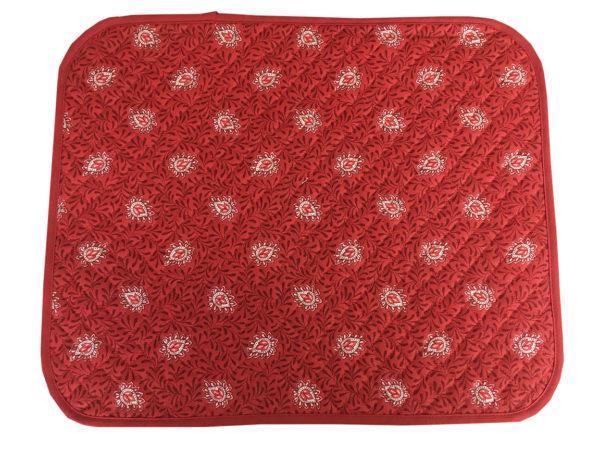 Garlaban Sets de table biais rouge
