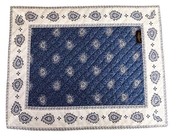 Garlaban Sets de table cadré bleu
