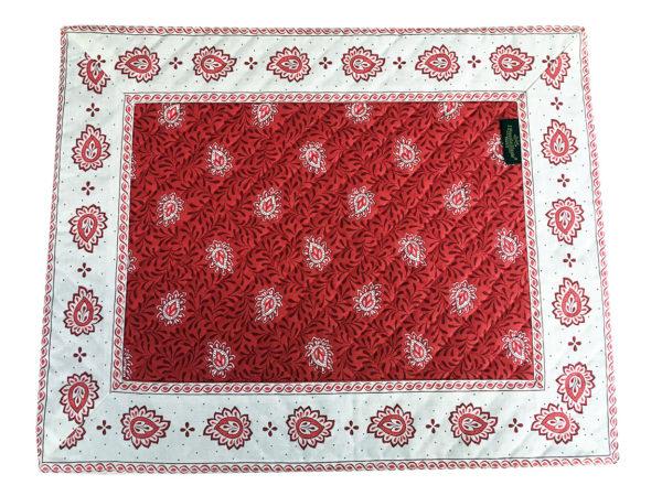 Garlaban Sets de table cadré rouge