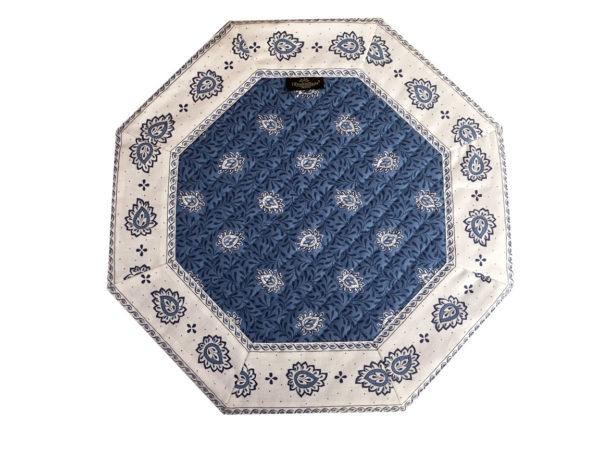 Garlaban Sets de table Sets- provence - made in france - Collection exclusive - Garlaban octogonal bleu