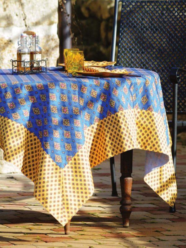 Nappes - provence - made in france - Valdrôme - batiste bleu