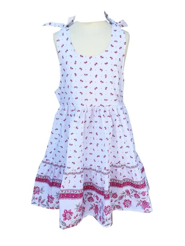 Robe - enfant - provence - collection exclusive - Caline castelanne blanc rose