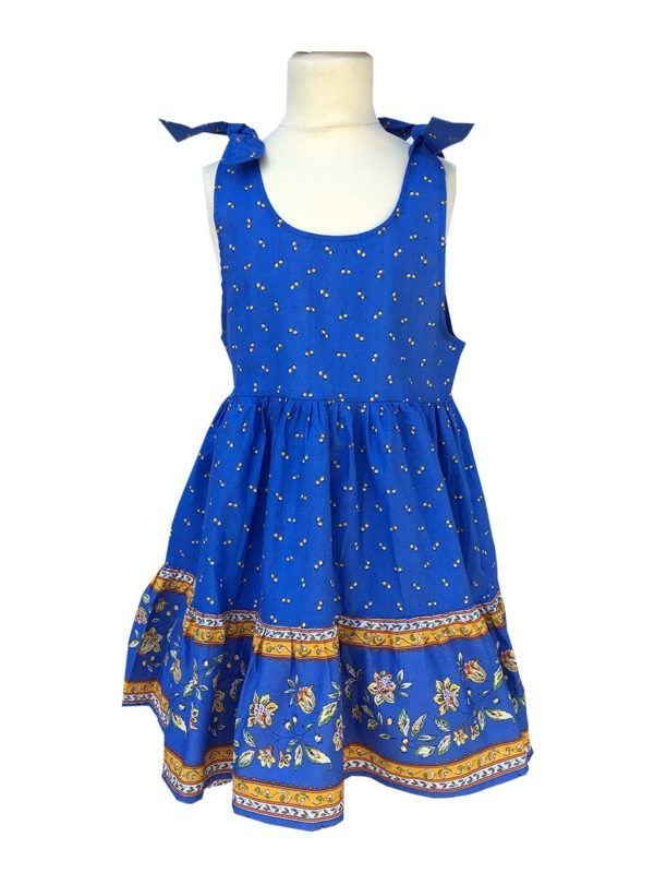 Robe - enfant - provence - collection exclusive - Caline castelanne bleu