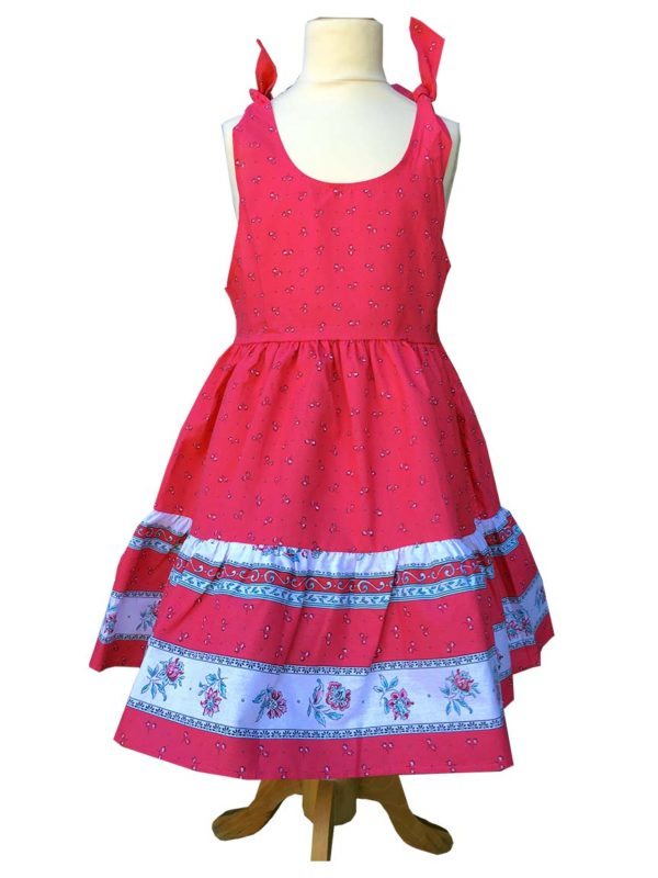 Robe - enfant - provence - collection exclusive - Caline castelanne framboise rose
