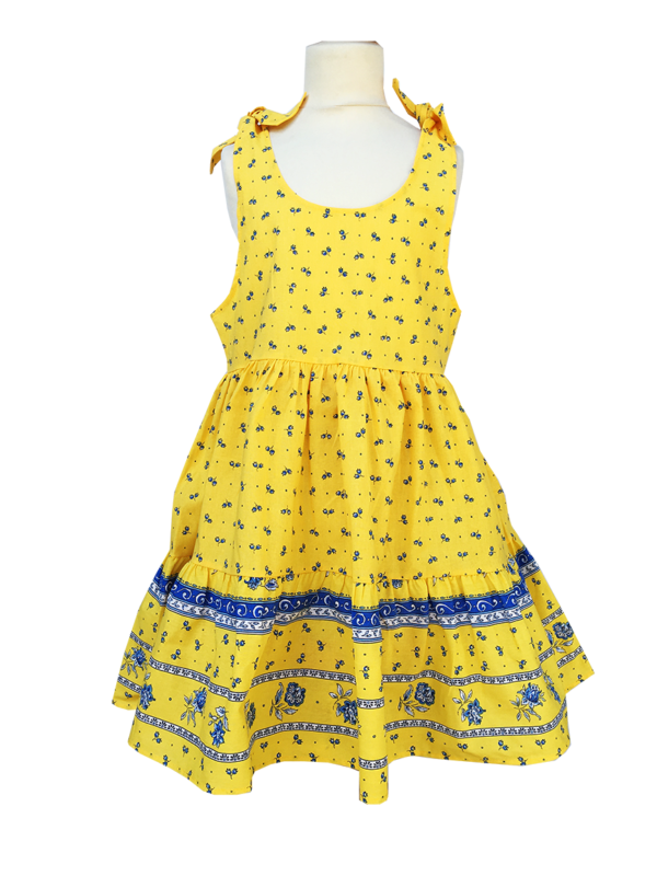 Robe - enfant - provence - collection exclusive - Caline castelanne jaune
