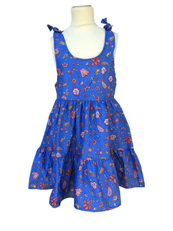 Robe - enfant - provence - collection exclusive - Caline indienne bleu