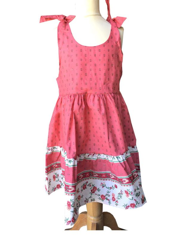 Robe - enfant - provence - collection exclusive - Caline paradou rose