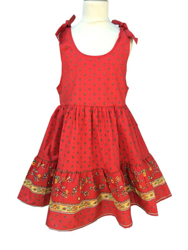 Robe - enfant - provence - collection exclusive - Caline paradou rouge