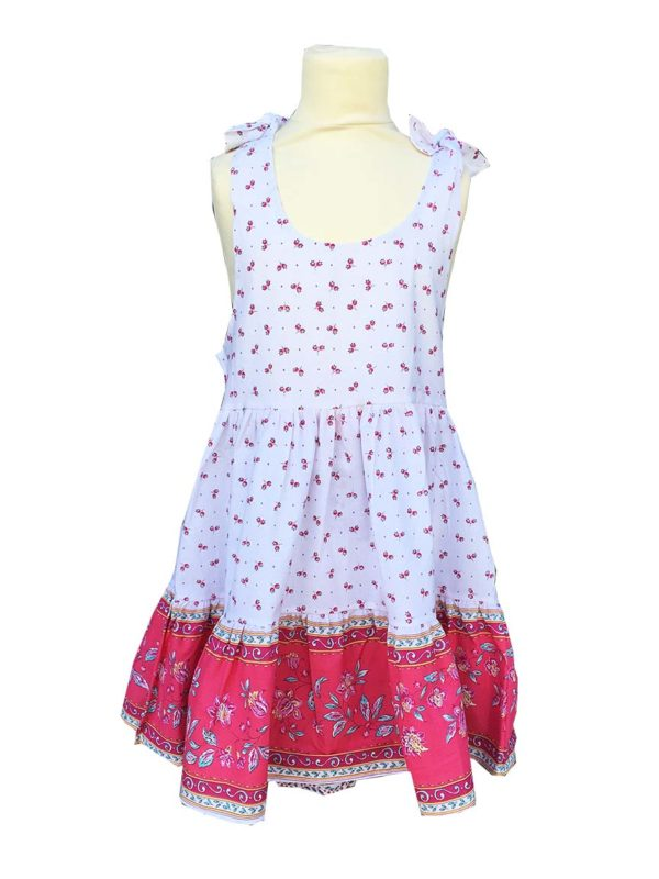 Robe - enfant - provence - collection exclusive - Caline castelanne blanc rose nouveau