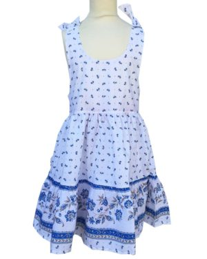 Robe - enfant - provence - collection exclusive - Caline castelanne blanc bleu