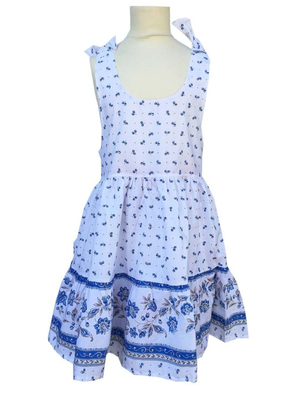 Robe - enfant - provence - collection exclusive - Caline castelanne blanc bleu