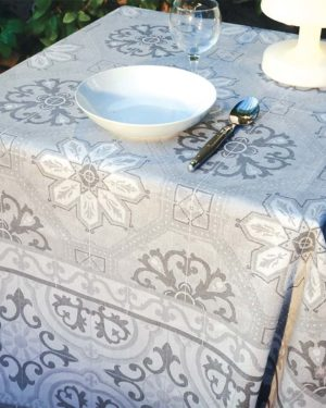 Nappes - provence - made in france - jacquard - Mosaique gris