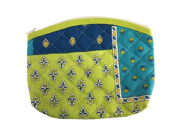 Bagagerie -porte monnaie - patch esterel vert bleu