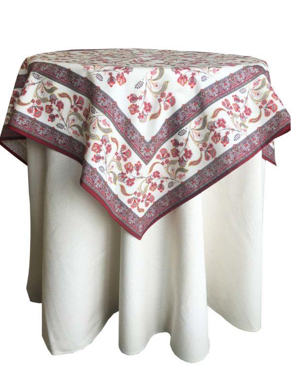 Nappes - provence - made in france - batiste rose - Valdrôme