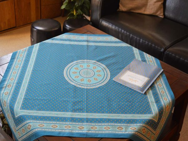 Nappe 100 x 100 cm - provence - made in france - Collection exclusive - Esterel jade