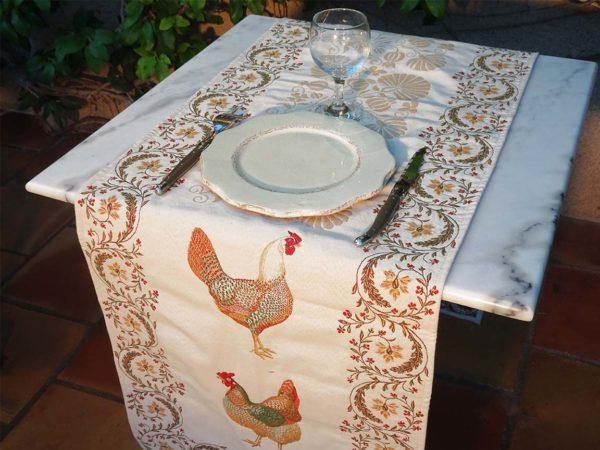 Chemin Chanteclerc jacquard poule