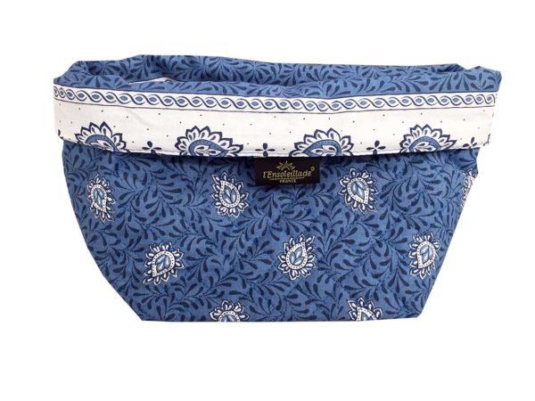 Corbeille matelassé - vide poche - collection exclusive - garlaban bleu