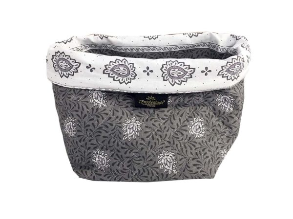 Corbeille matelassé - vide poche - collection exclusive - garlaban gris