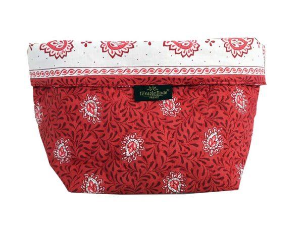 Corbeille matelassé - vide poche - collection exclusive - garlaban rouge