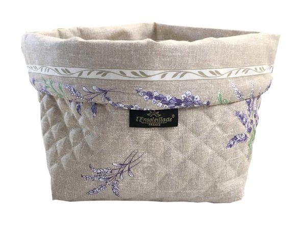 Corbeille matelassé - vide poche - Provence - lavande - Valensole beige