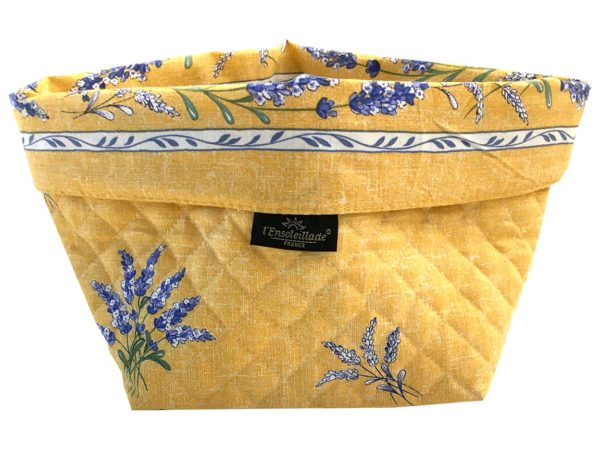 Corbeille matelassé - vide poche - Provence - lavande - Valensole jaune