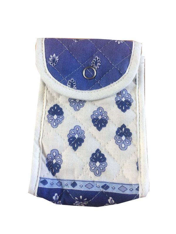 Bagagerie - trousses - étui multifonction - patch esterel blanc bleu