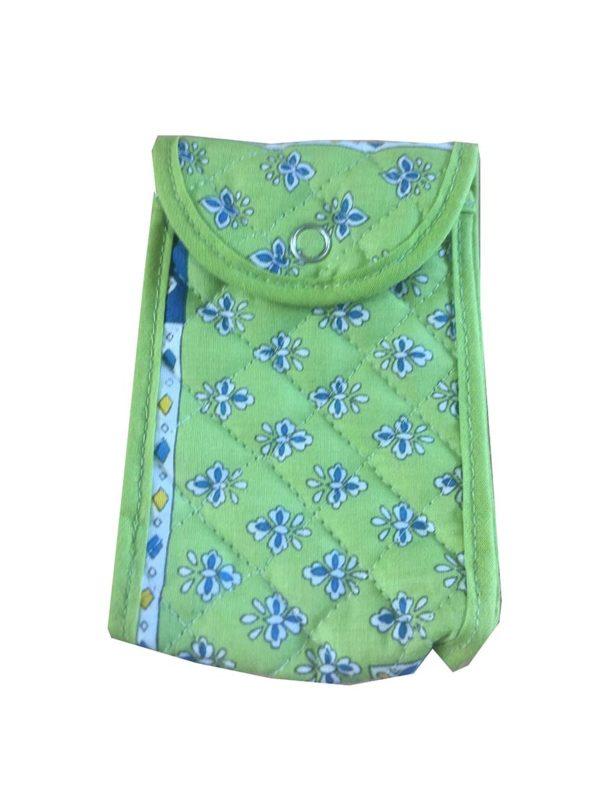 Bagagerie - trousses - étui multifonction - patch bleu vert