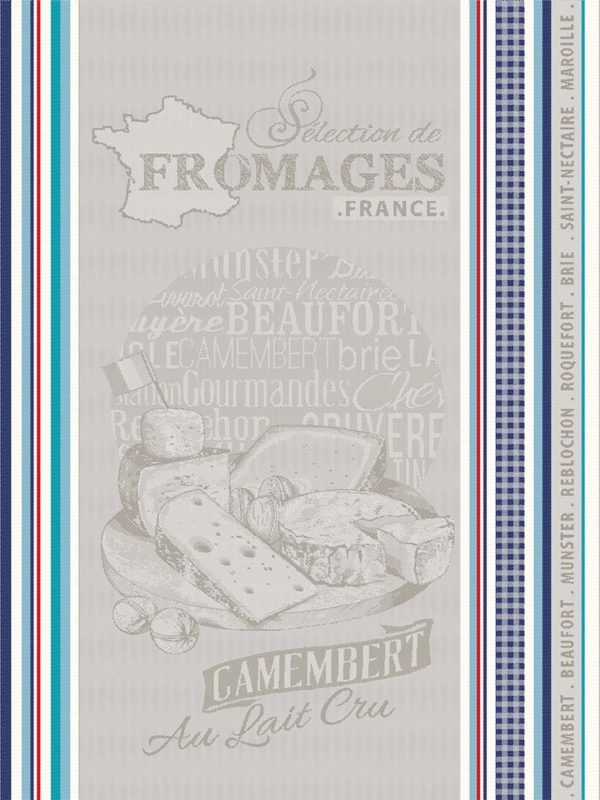 Torchons - Provence - Made in France - effet lin - tissé teint fromage