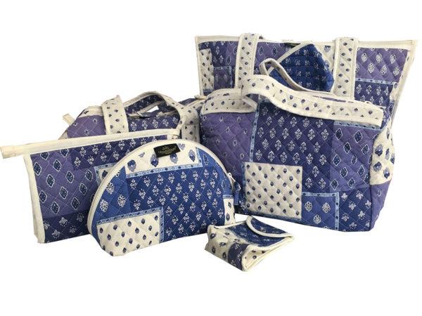 Bagagerie - trousses - sacs- porte monnaie- patch esterel blanc bleu