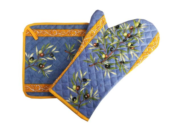 Gant et manique - cuisine - provence - Olives - clos des oliviers bleu