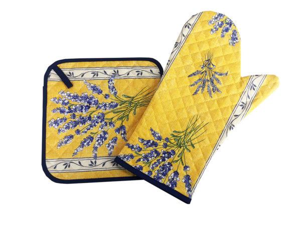 Gant et manique - cuisine - provence - lavande - valensole jaune