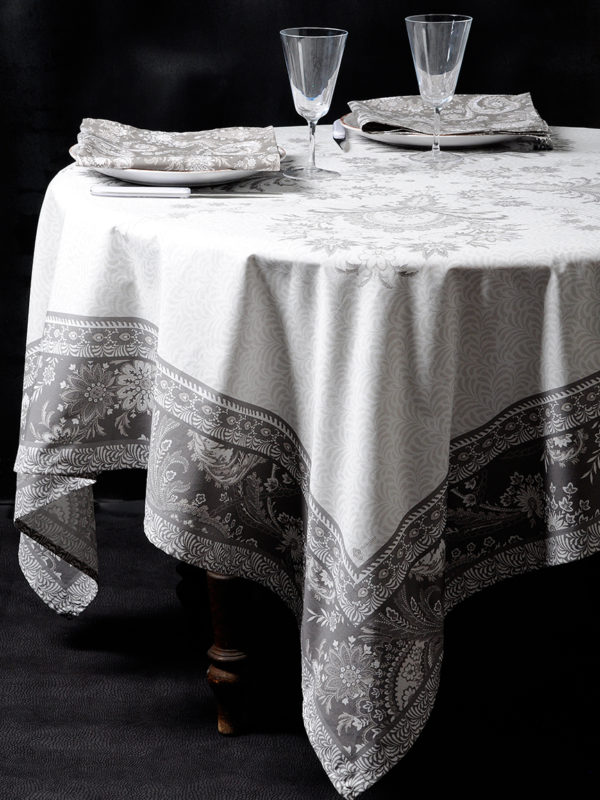 Nappes - provence - made in france - Haveli taupe - Valdrôme