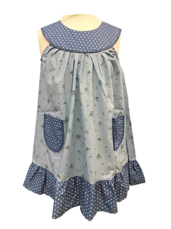 Robe - enfant - provence - collection exclusive - Laura bleu
