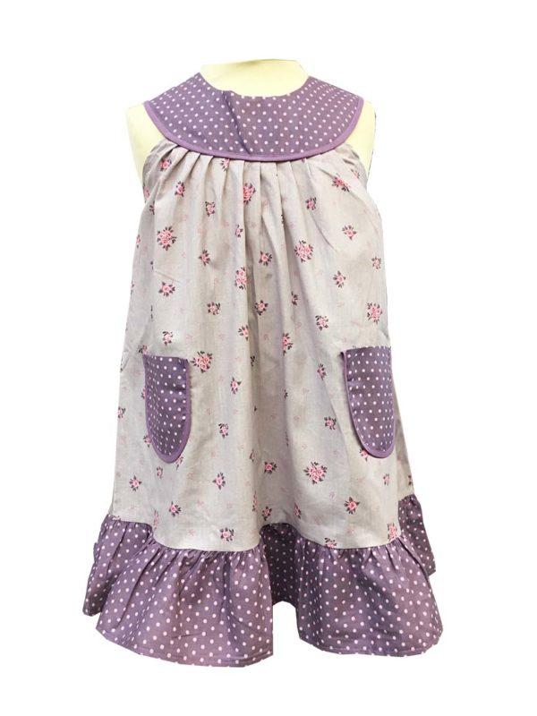 Robe - enfant - provence - collection exclusive - Laura parme violet