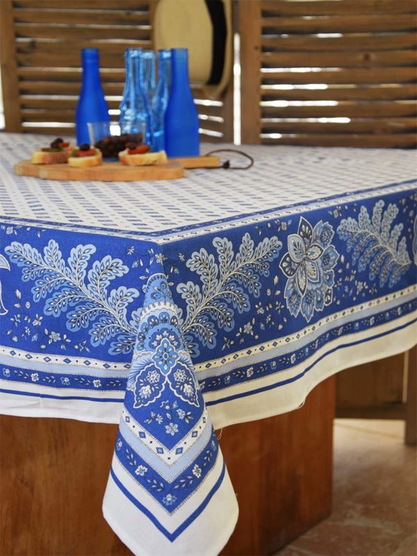 Nappe - provence - made in france - Collection exclusive -mirabeau blanc bleu