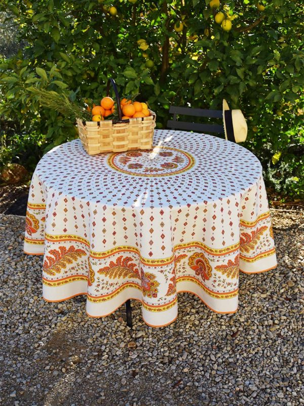 Nappe - provence - made in france - Collection exclusive -mirabeau orange blanc multico 2