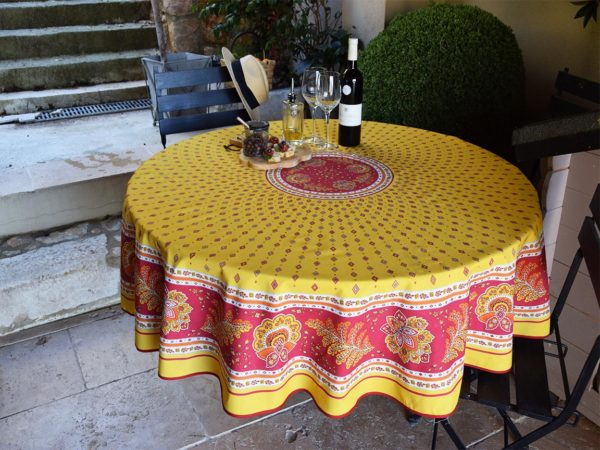 Nappe - provence - made in france - Collection exclusive -mirabeau jaune rouge