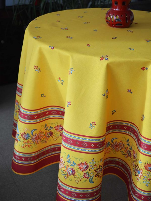Nappe - provence - made in france - Collection exclusive - luberon jaune multico