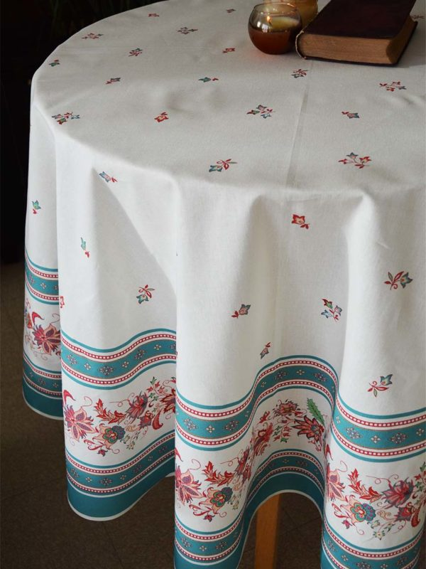 Nappe - provence - made in france - Collection exclusive - luberon vert d'eau vert blanc