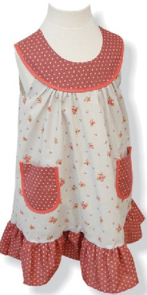 Robe - enfant - provence - collection exclusive - laura perle gris