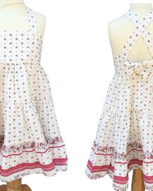 Robe Alice - enfant - croisée dans le dos - nœud -