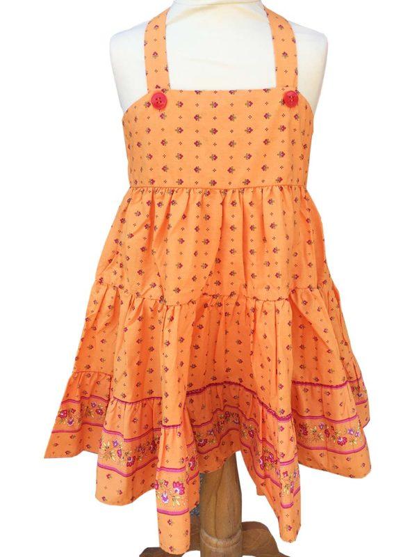 Robe Alice - enfant - croisée dans le dos - nœud - vence melon
