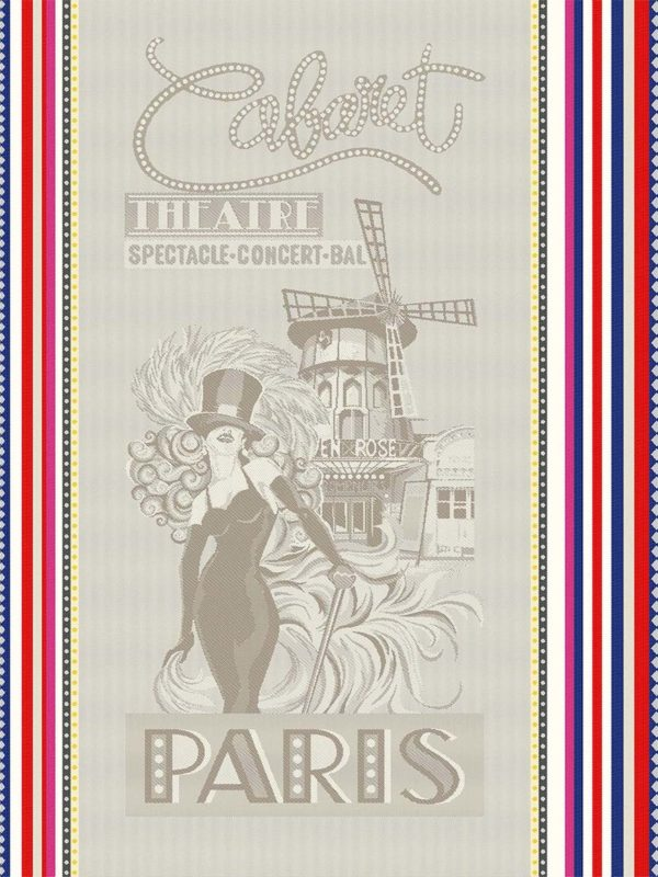 Torchons - Provence - Made in France - effet lin - tissé teint cabaret