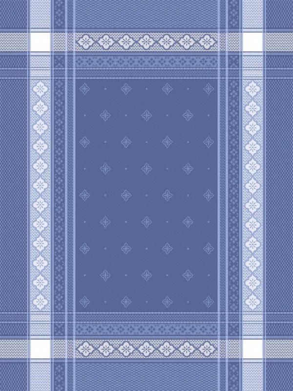 Torchons - Provence - Made in France -jacquard - bargème bleu