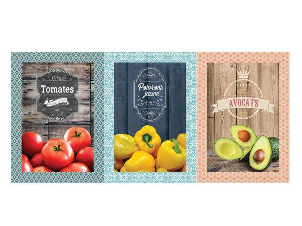 Torchons - Provence - Made in France - Numérique - Cuisine - Tomate- poivron - avocat