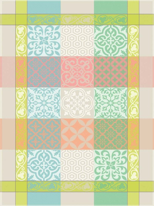 Torchons - Provence - Made in France -jacquard - Reillanne pastel