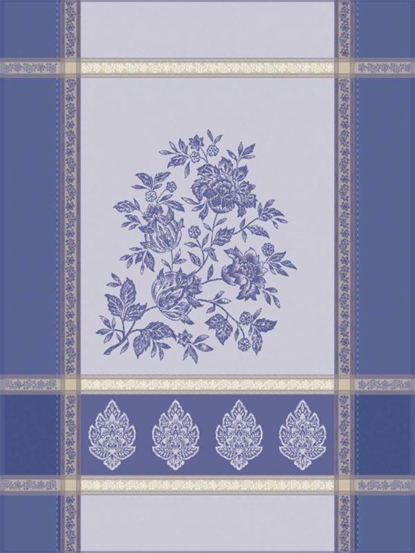 Torchons - Provence - Made in France -jacquard - Caprice bleu